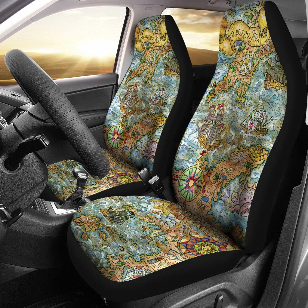Treasure Map Car Seat Covers