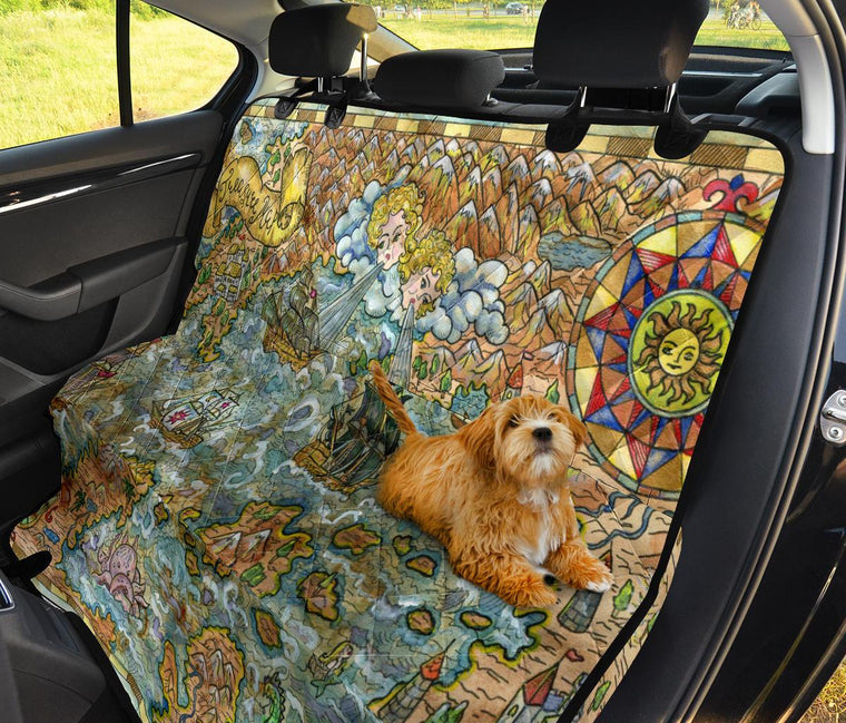Treasure Map Pet Seat Covers