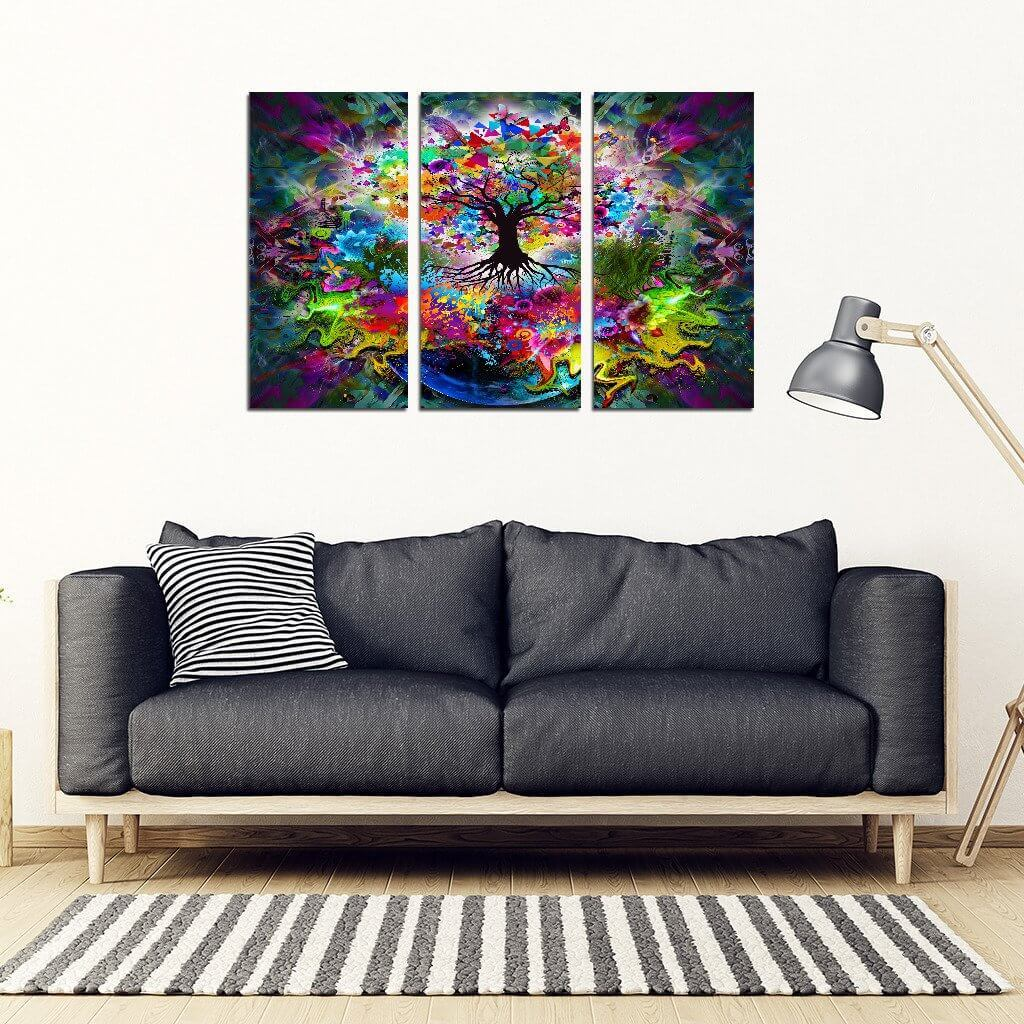 Tree Of Life 3 Piece Wall Art Your Amazing Design