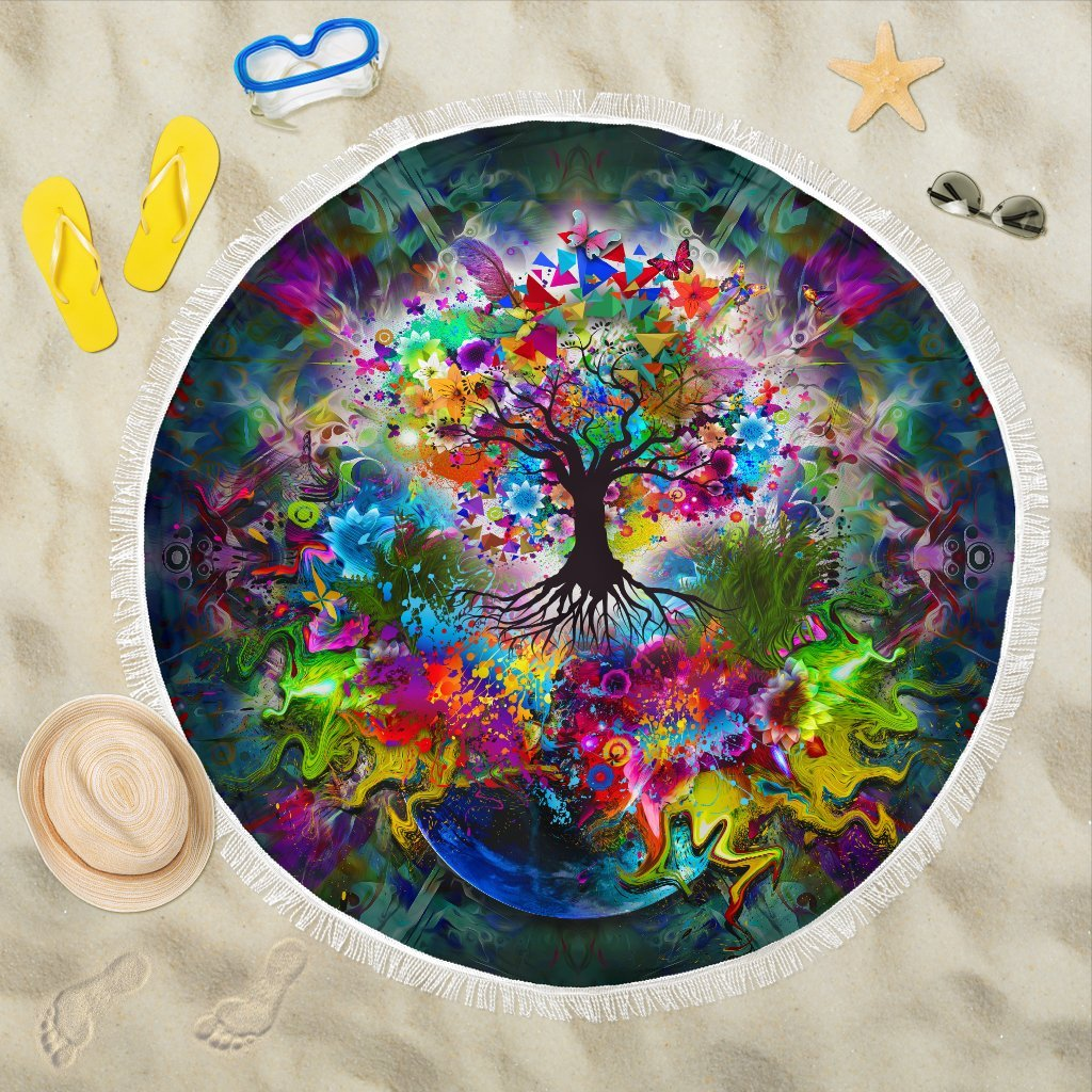 Tree Of Life Beach Blanket