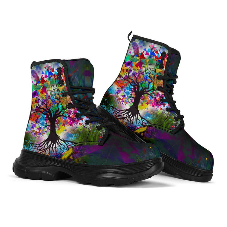Tree Of Life Chunky Boots