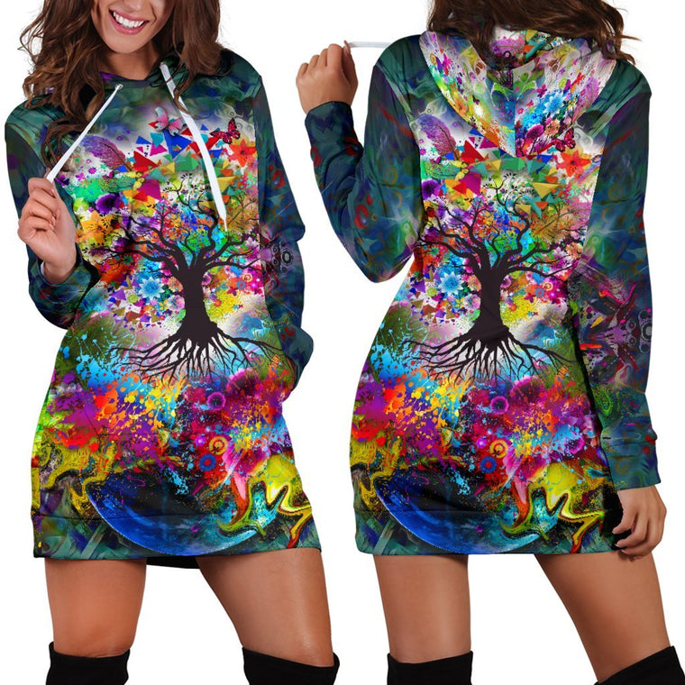Tree Of Life Hoodie Dress