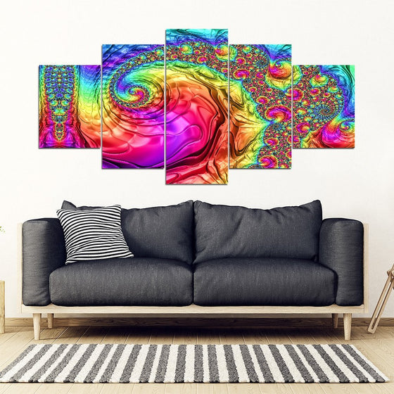 Trippy Rainbow 5 Piece Wall Art