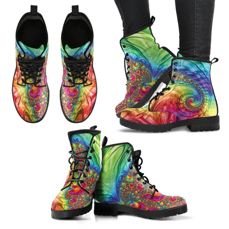 Trippy Rainbow Women's Boots | Shoes