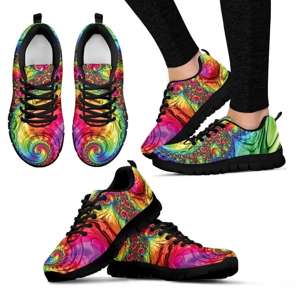 Trippy Rainbow Women's Sneakers