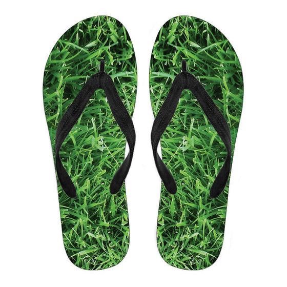 Walking On Grass Flip Flops