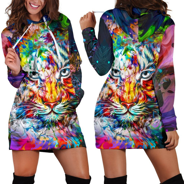 Wild Tiger Hoodie Dress