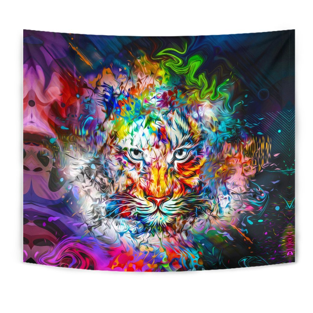 Wild Tiger Wall Tapestry