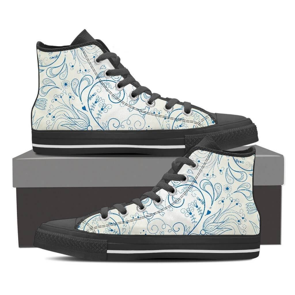 Women High Top Shoes - Blue Bird High Top
