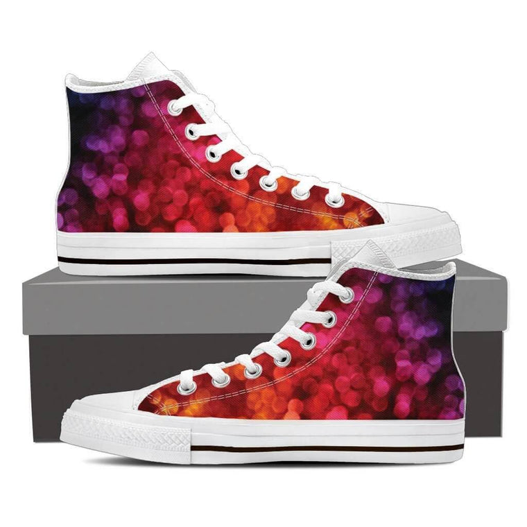 Women High Top Shoes - Color Sparks High Top