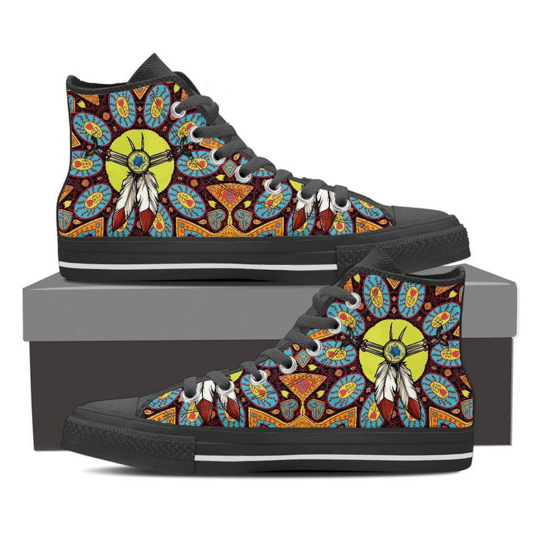 Women High Top Shoes - Indian Charm High Top