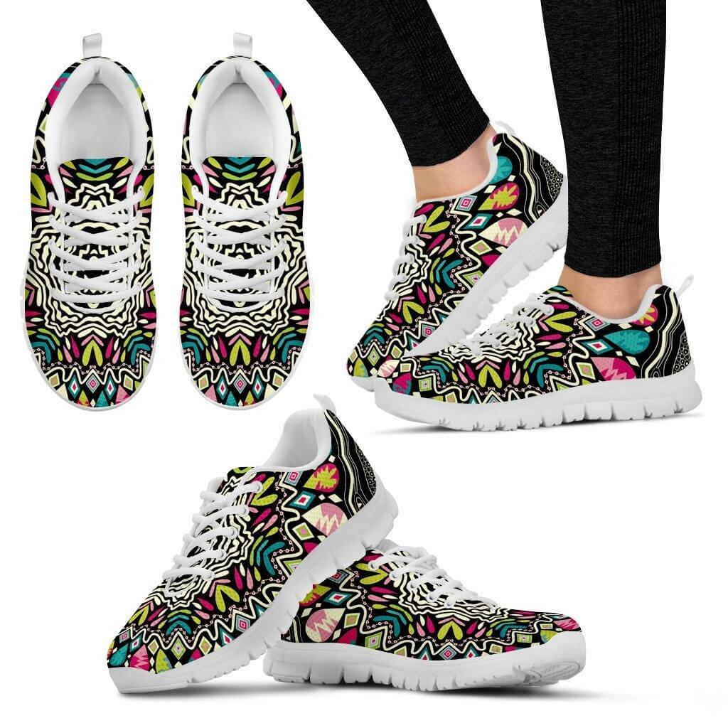 Women Sneakers - Drops Of Colors Sneakers