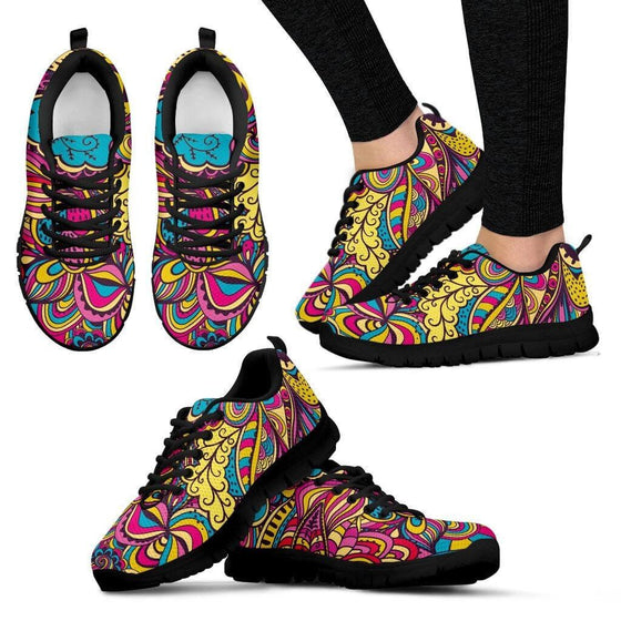 Women Sneakers - Free Your Mind Black Sneakers