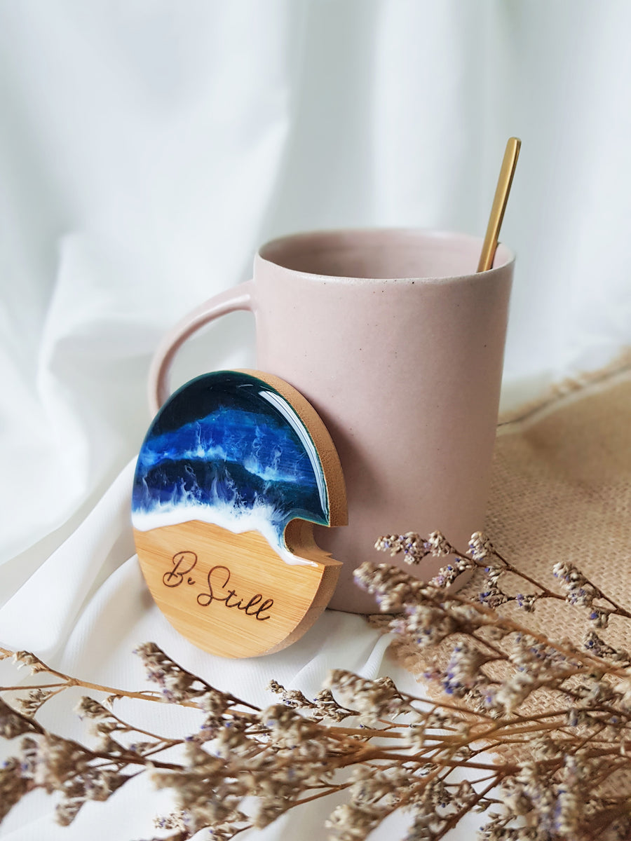 [Be Still] Engraved Lid Ceramic Mug