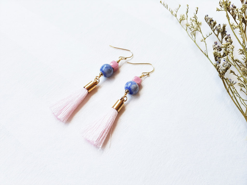 Pastel Dreams Tassels Earrings