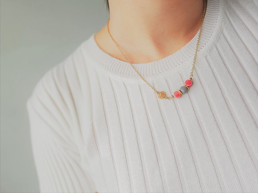 Faye Pink Necklace