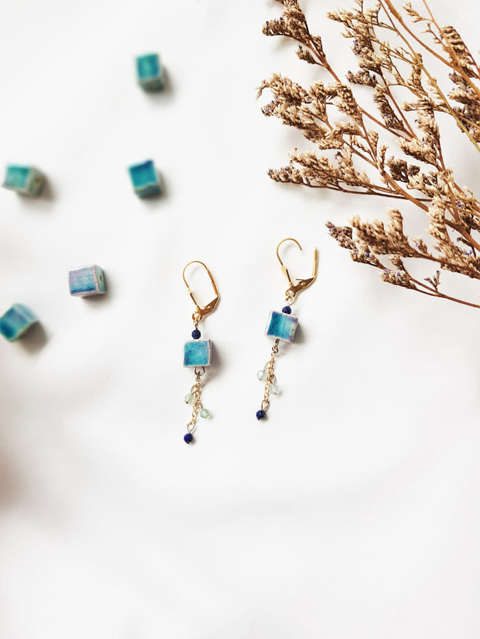 Ombre Cube Earrings