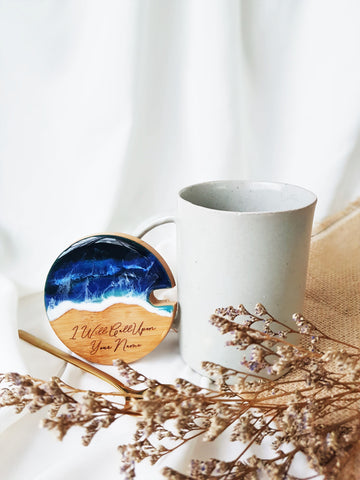 [I Will Call Upon Your Name] Engraved Lid Ceramic Mug