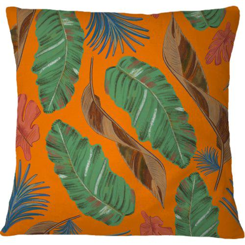 Cojín Tropical leaves nature colors pattern
