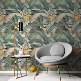 Papel Mural Tropical Banana Vintage