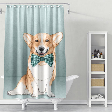 Cortina de baño Corgi Dog