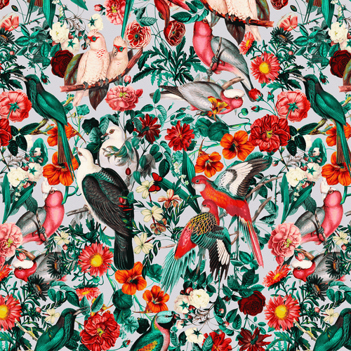 Papel Mural FLORAL AND BIRDS XIV