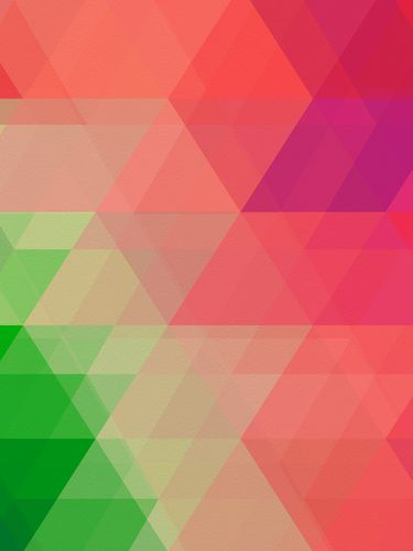 Canvas Green Pink Geometry