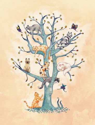 Canvas The Tree of Cat Life