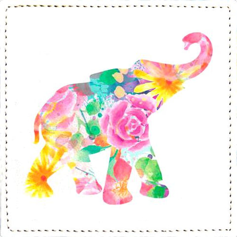 Posavaso Watercolor Floral Elephant