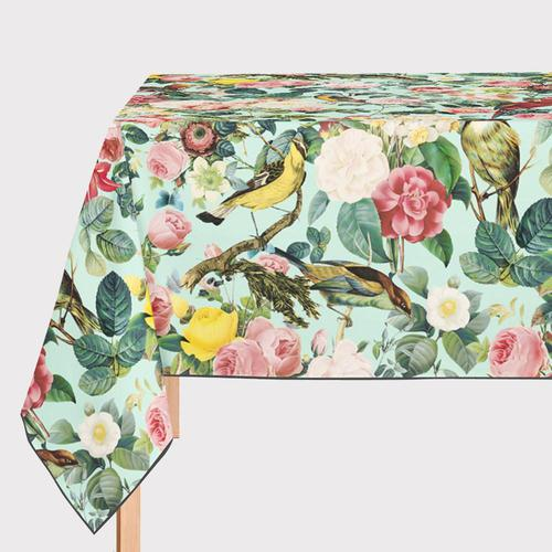 Mantel Hule Floral and Bird III