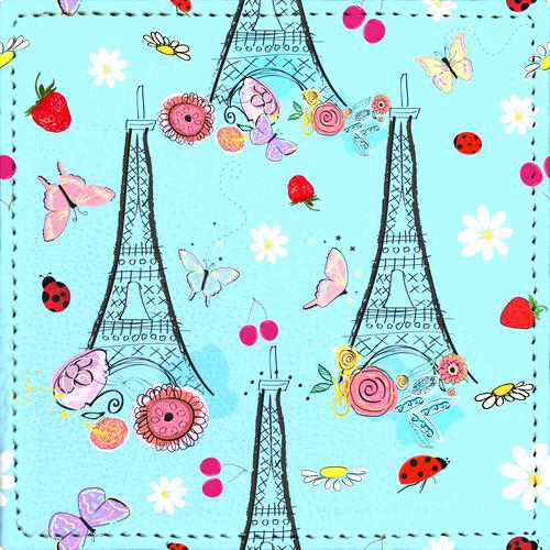 Posavaso Paris, Eiffel Tower and Spring Time