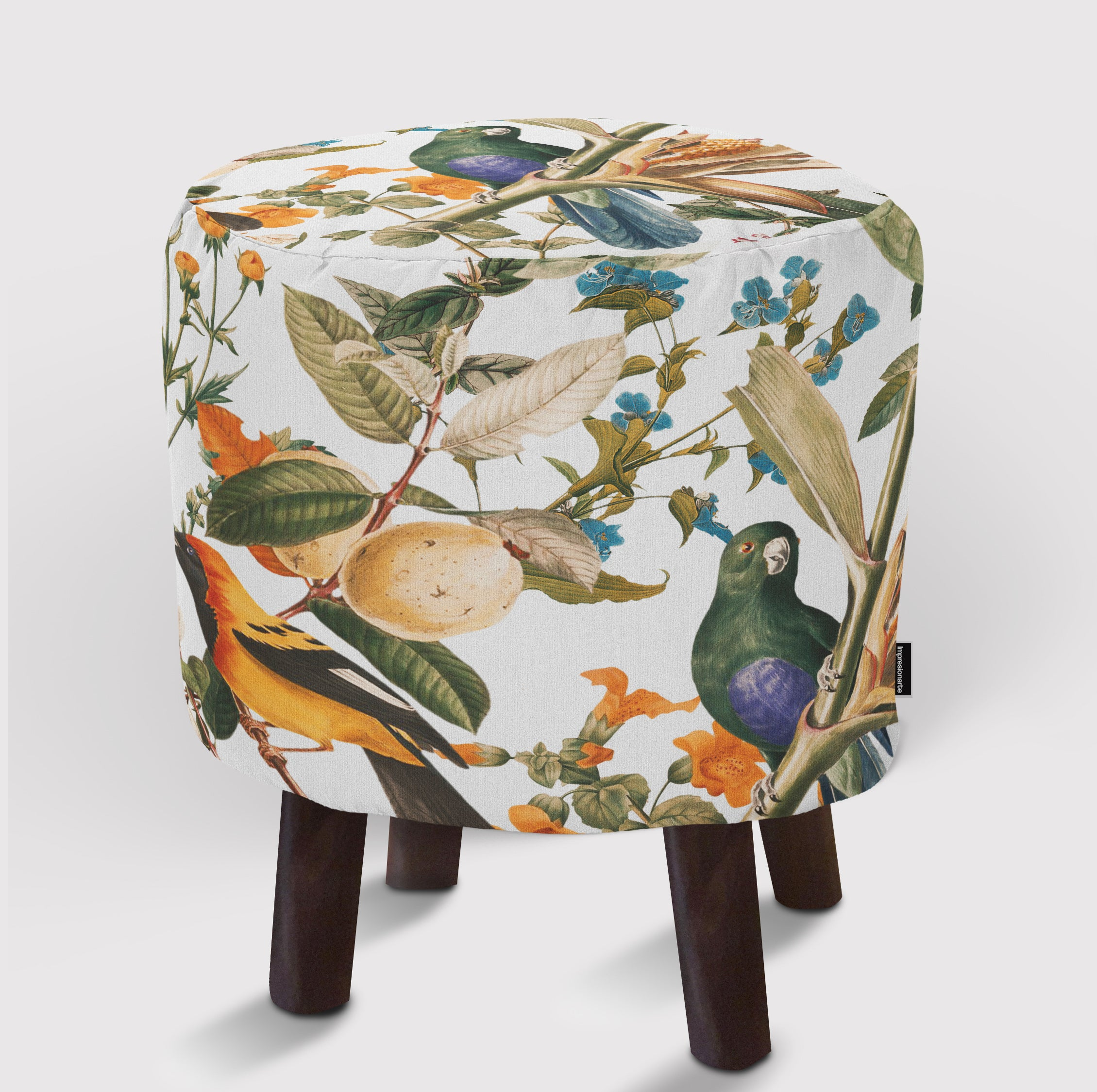 Pouf Floral and Birds XXXII