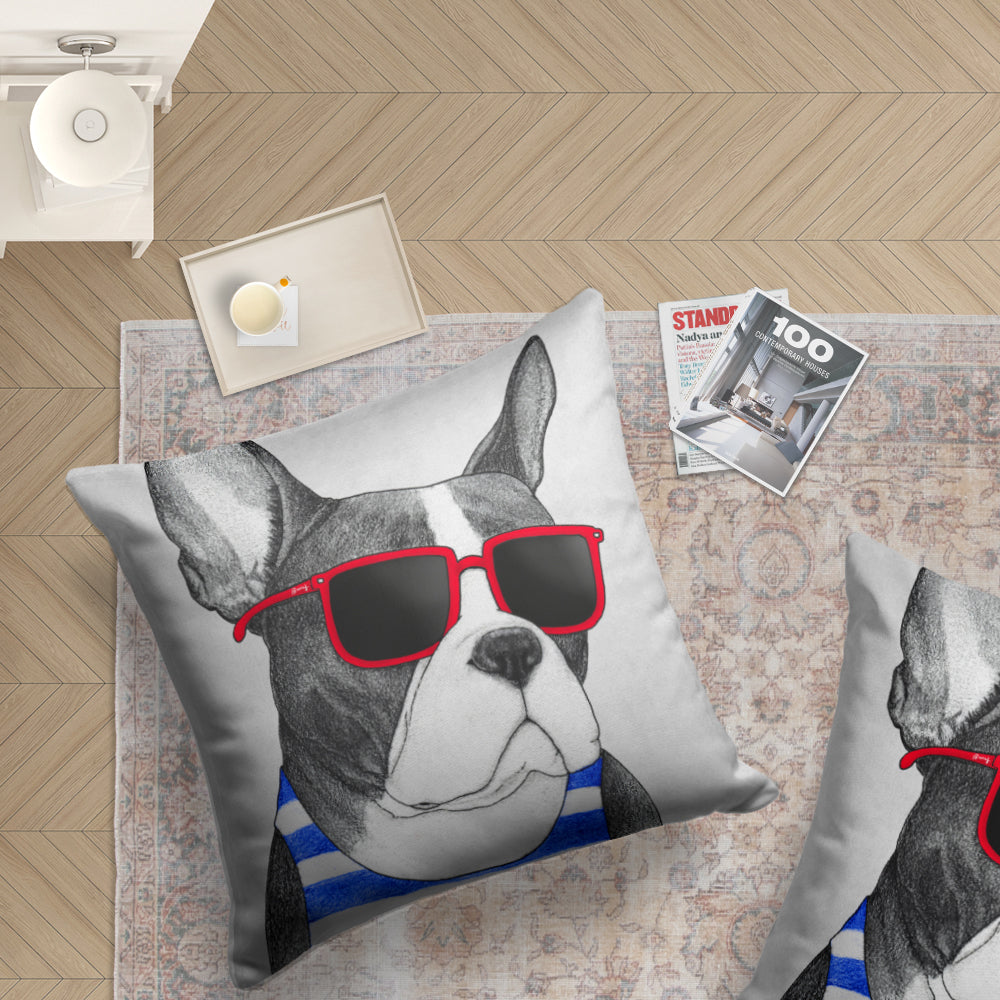 Cojin de Piso Frenchie summer Style