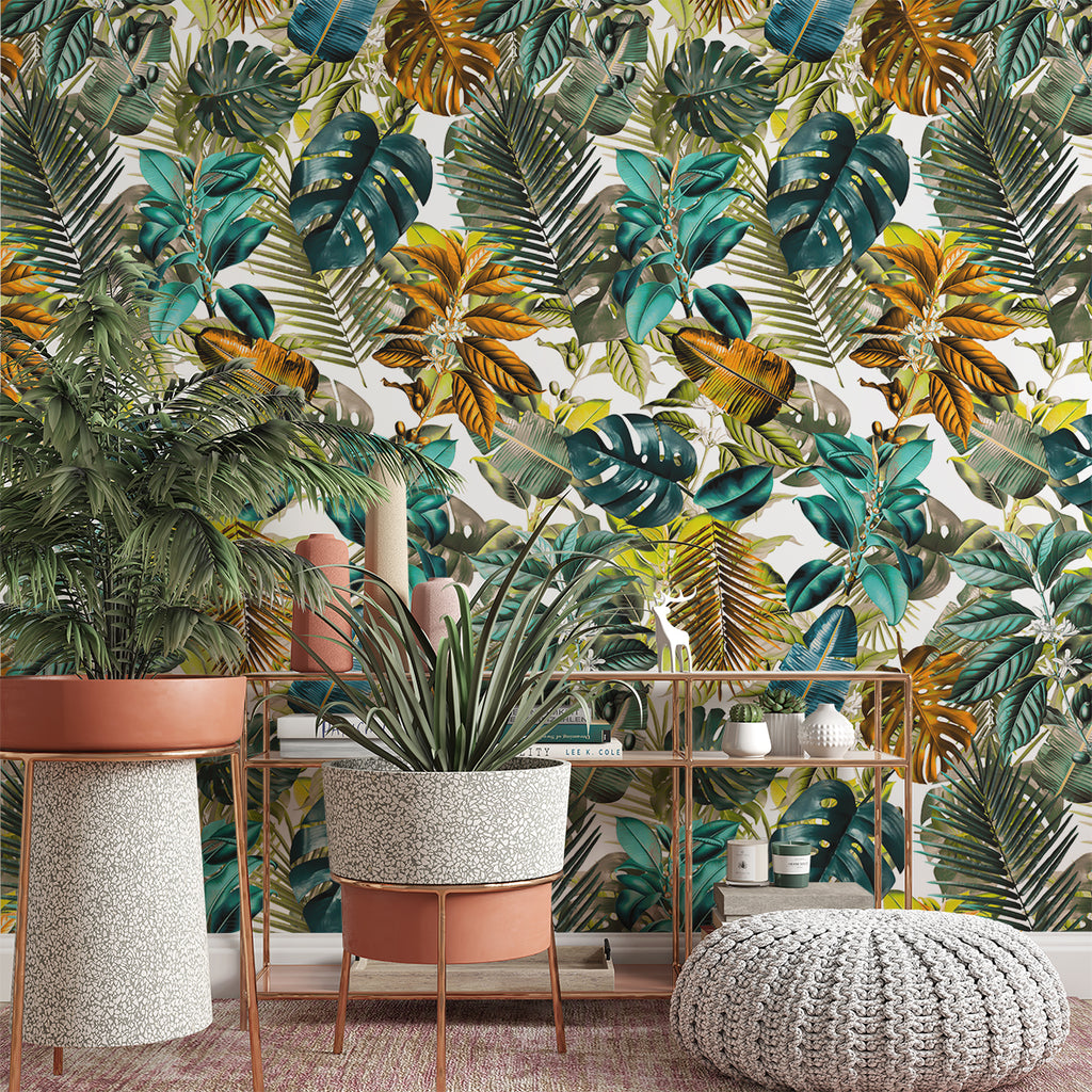 Papel Mural Tropical Pattern