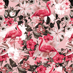 Papel Mural Flamingos Pattern