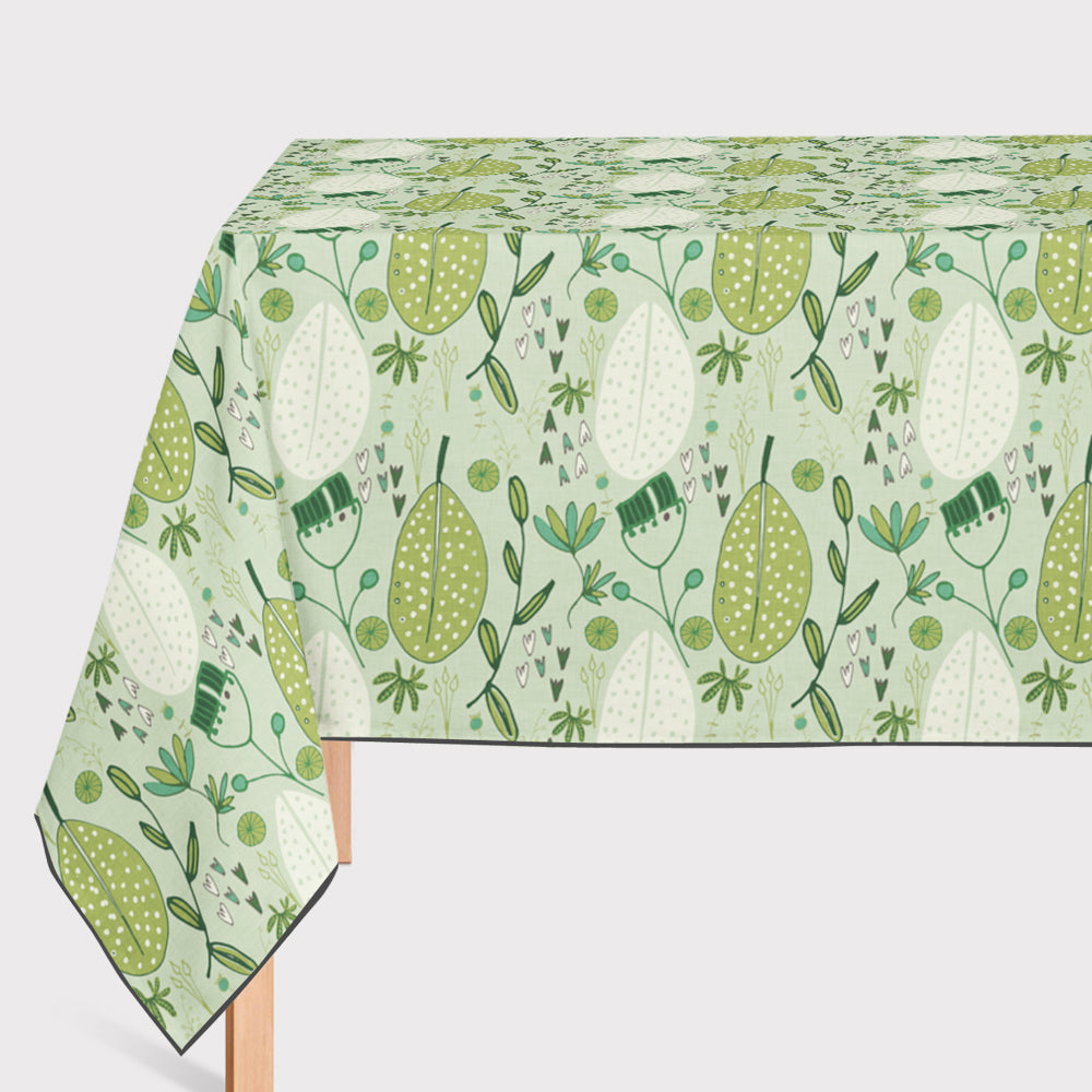 Mantel de Hule Emerald Forest Floral Cord Green