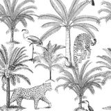 Mantel de Hule Black and White Jungle