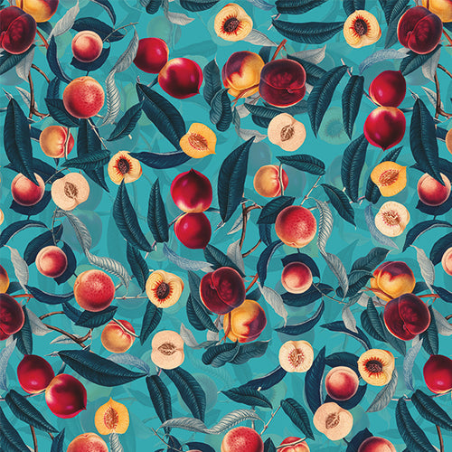 Papel Mural Nectarine and Leaf pattern
