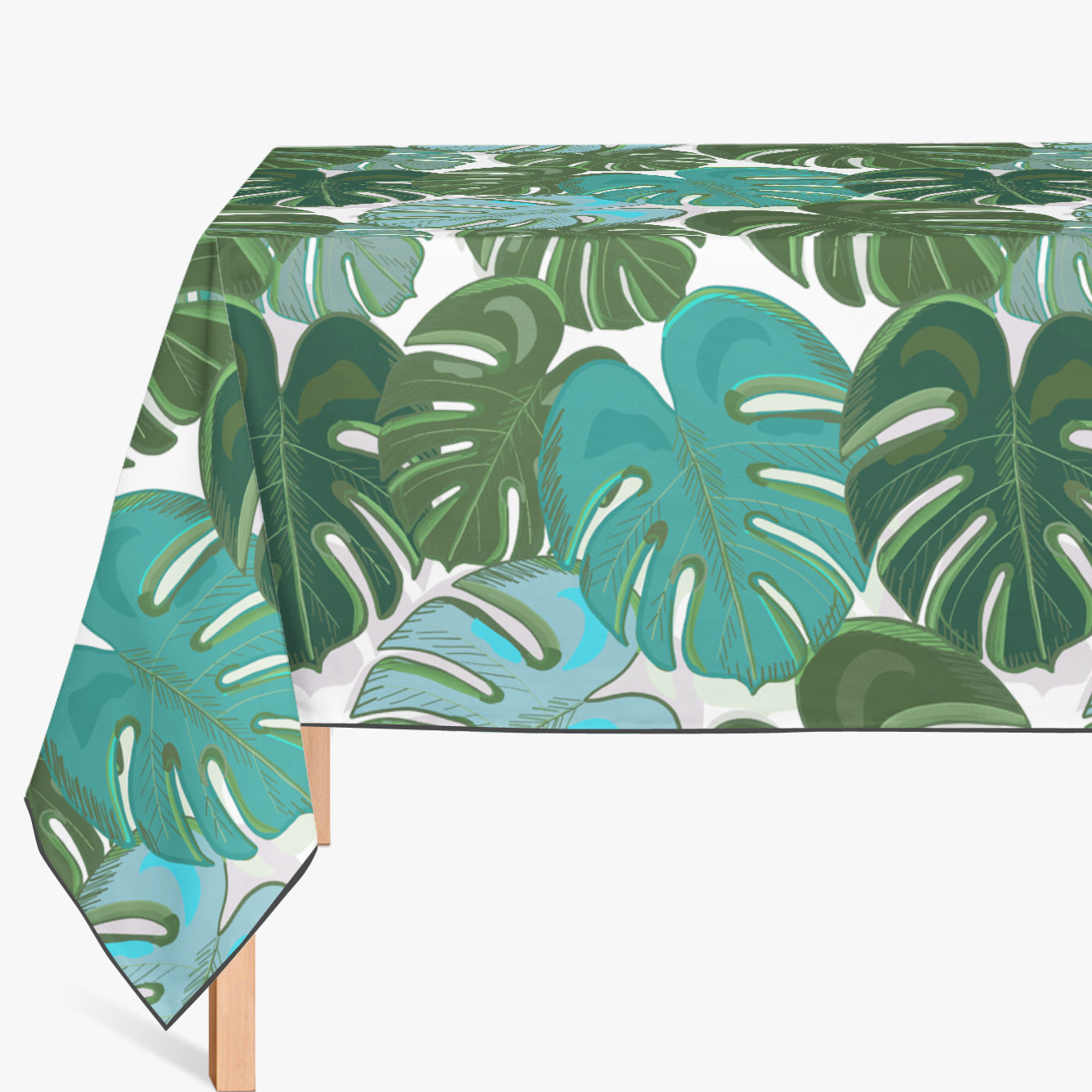 Mantel de Hule TROPICAL COLORFUL MONSTERA LEAVES