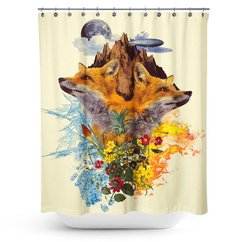 Cortina de Baño Fox and Floral