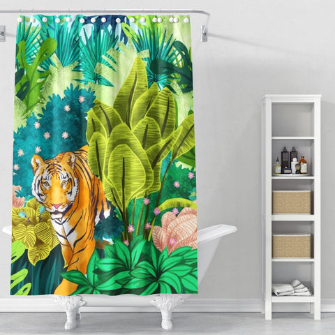 Cortina de Baño Jungle Tiger