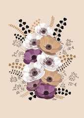 Canvas Anemonas Bouquet