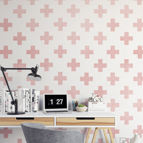 Papel Mural Pink Cross