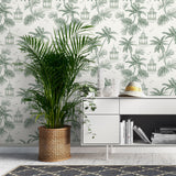 Papel Mural Tropical Vintage Green