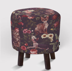 Pouf Floral and Cats