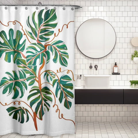 Cortina de Baño Monstera Deliciosa