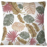 Cojín Nature color hand drawn tropical leaves