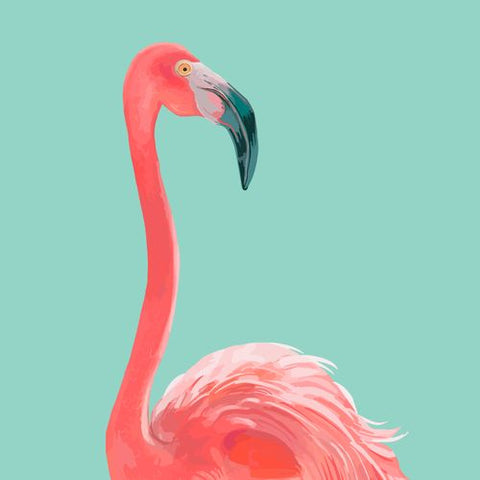 Canvas Flamingo In The Sky