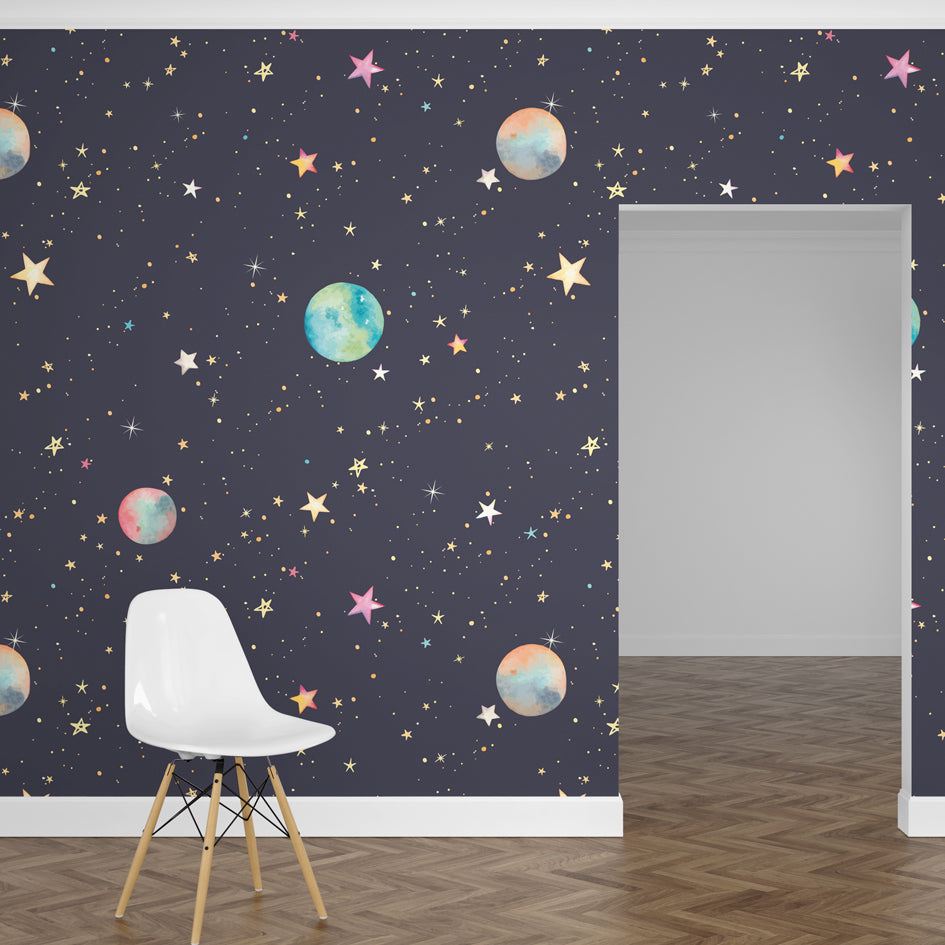 Papel Mural Stars and Planets