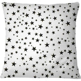 Cojín Shining golden and white colored stars White